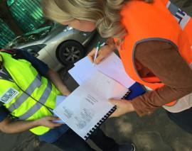 ОДОО «Школа юного пешехода» совместно со Сторонниками «ЕДИНОЙ РОССИИ» провели рейды