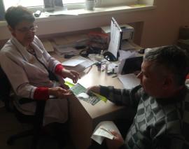 Акция «Безопасность пожилого человека на дороге»  прошла в поликлиниках Краснодара