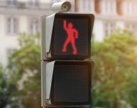 Члены «Школы юного пешехода» одними из первых опробовали «Танцующий» светофор в Москве