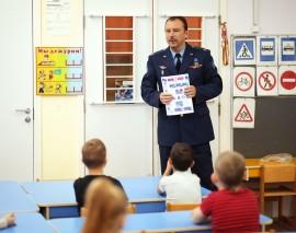 Кадеты и дошкольники школы 1367 присоединились к проекту «Школа юного пешехода».