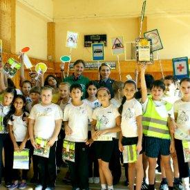 Акция «Будь умным пешеходом!» в адлерской школе №25 21 октября 2011 года
